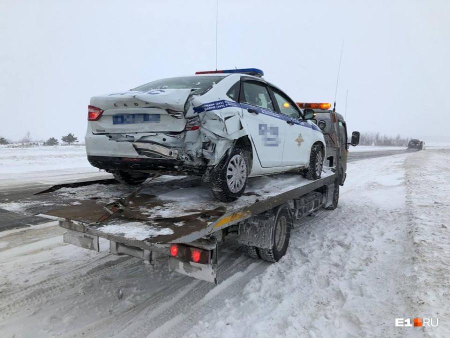 В ДТП пострадали только машины