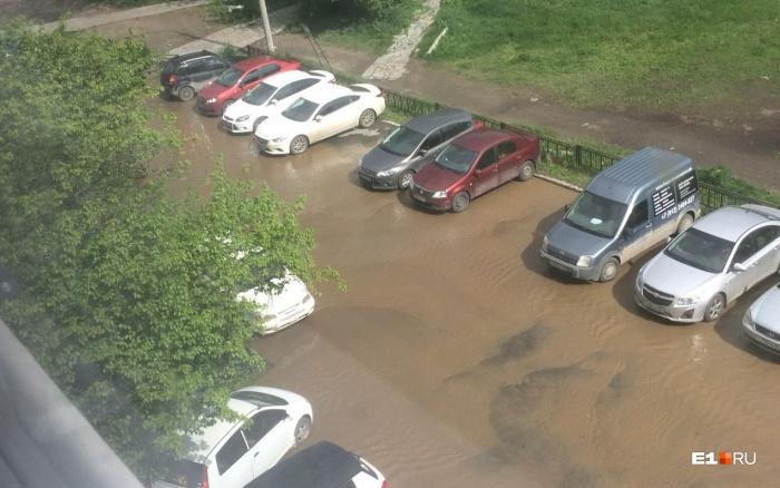 Затопленный двор наСыромолотова, 7
