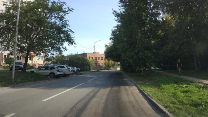 Как по линейке: на улице в Ленинском районе исправили очень кривую разметку