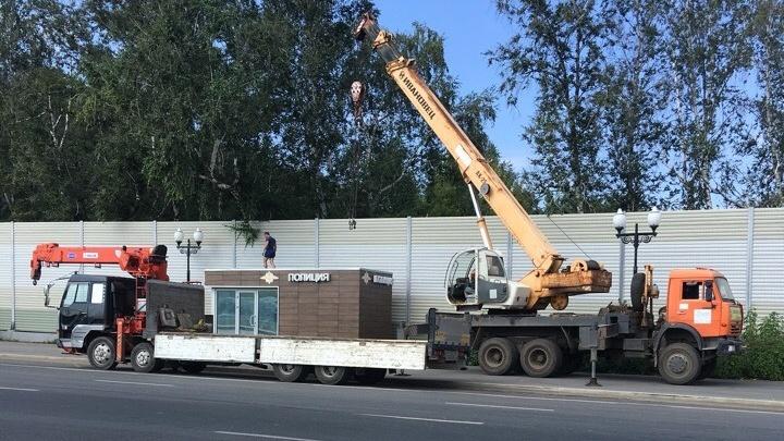 На Московском шоссе демонтировали пост ДПС