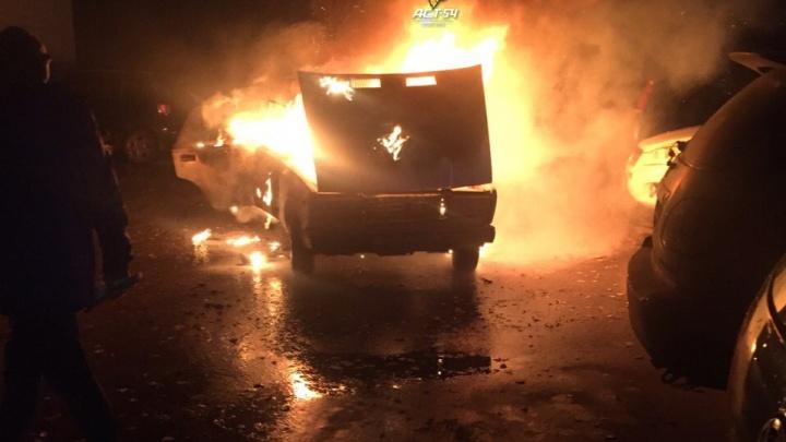 В Ленинском районе сгорела машина