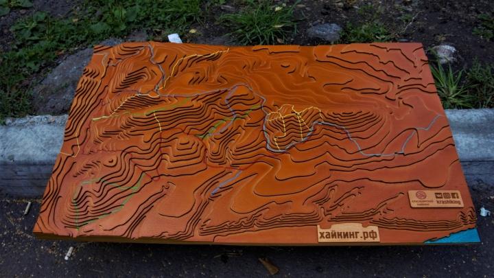 В парке «Гремячая грива» появилась огромная объёмная карта с маршрутами для прогулок
