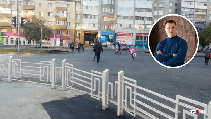Тюменец 45 минут спорил с чиновником и убедил его сделать пешеходный переход у Загородного сада