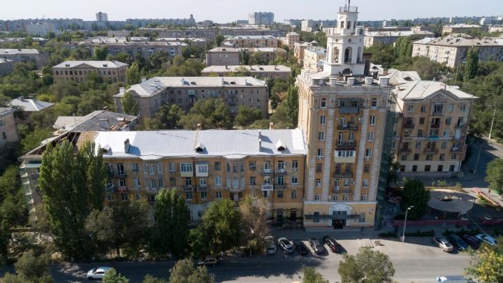 «Немцы строили»: в Волгограде впервые за полвека ремонтируют знаменитый дом с башней