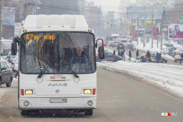 47-й автобус связывает центр Самары с окраиной