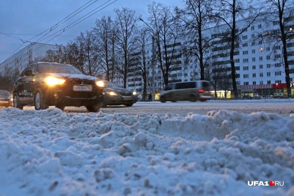 Ближе к ночи дороги снова оказываются завалены слоем снежной каши