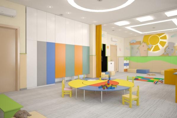 Компьютерная модель детской комнаты