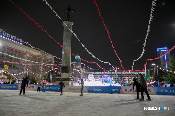 Большой каток в этом году обещают залить на Театральной площади