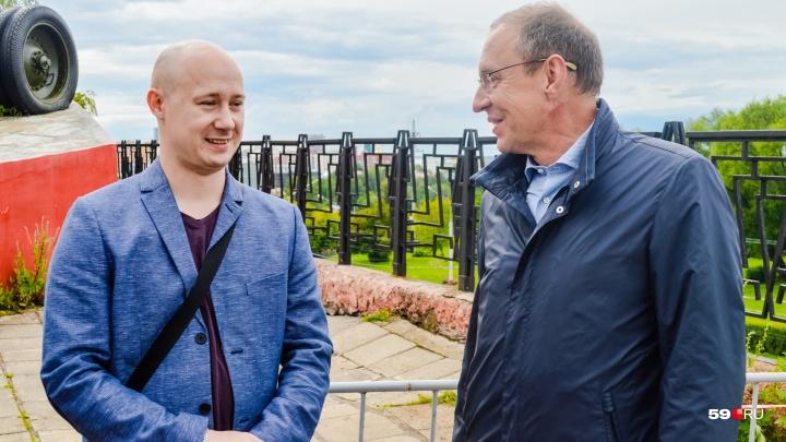 Мэр Самойлов предложил пермяку, следившему за склоном на Северной дамбе, работу внештатником