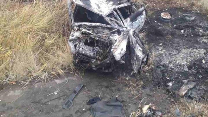 В Самарской области водитель сгорел в перевернувшейся машине