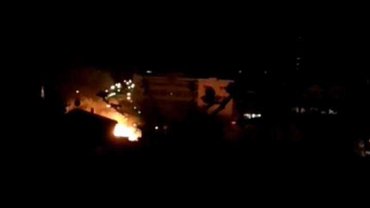 В Уфе из-за пожара без электричества остался целый район
