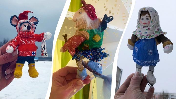 Задорная Маруся, мыши и Баба-яга: как северодвинка делает новогодние игрушки по старинной технологии