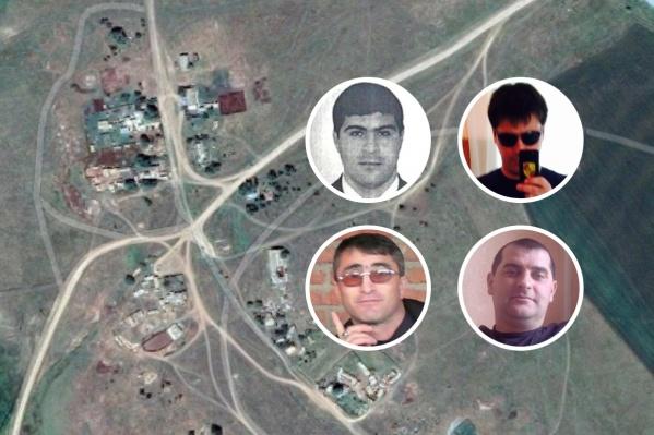На фото, верхний ряд: один из подозреваемых Дакишвили, погибший Зураб Дакишвили; нижний ряд: раненые Балауди Хусиханов, Адлан Бациев<br>