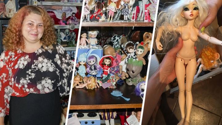 «Страшно признаться, сколько у меня кукол»: ростовчанка — о своей коллекции игрушек