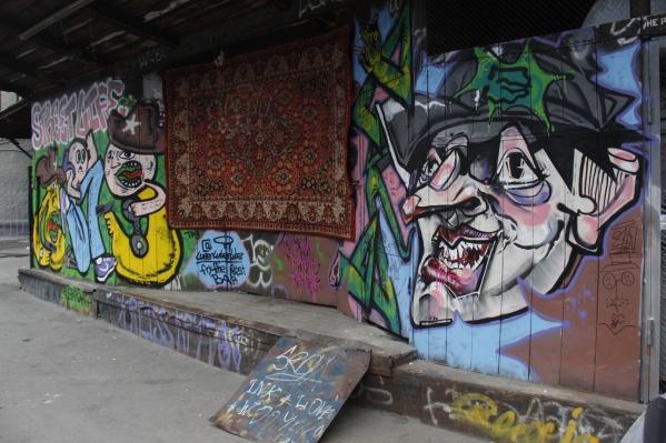 Уличные художники работали над артом около семи часов