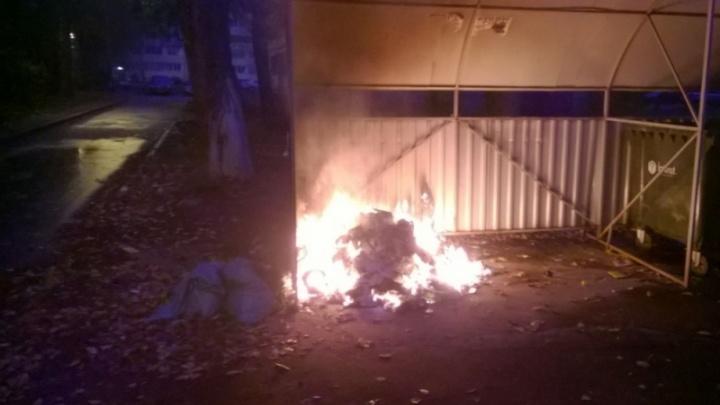 «Возбуждены уголовные дела»: в Ярославле полицейские поймали поджигателя мусорных контейнеров