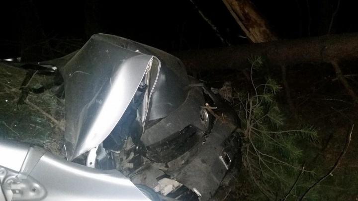 Под Режом пьяный водитель Mazda протаранил попутную Toyota Corolla