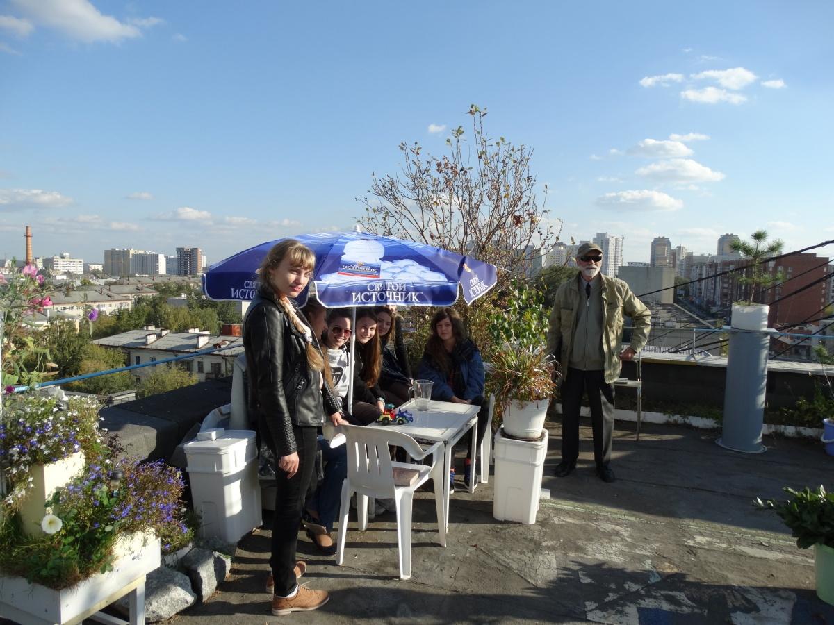 Студенты-архитекторы приходили на крышу вместе с преподавателями