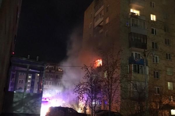 В результате возгорания пострадал один человек