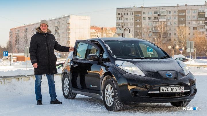 Новосибирец в морозы ездит на электрокаре и экономит по 10 тысяч в месяц на бензине — обзор авто