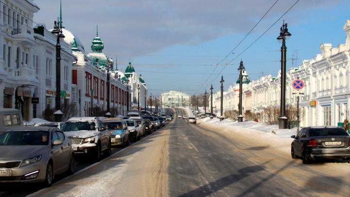 В Омске на 34 часа перекроют две центральные улицы