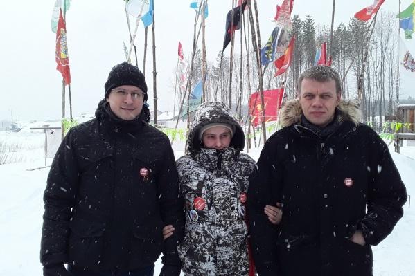 Депутаты Мосгордумы Евгений Ступин и Павел Тарасов на Шиесе