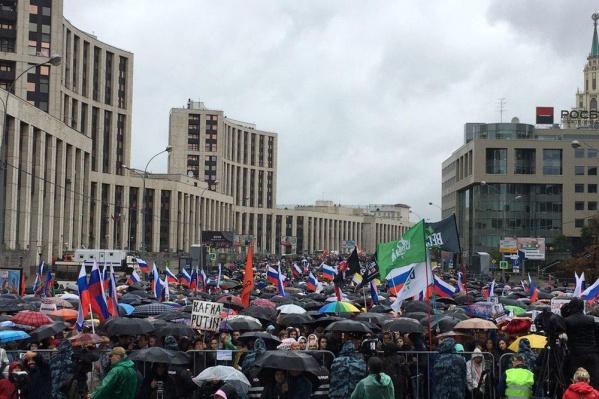 Акция в Москве, по разным данным, собрала от 20 до 45 тысяч человек
