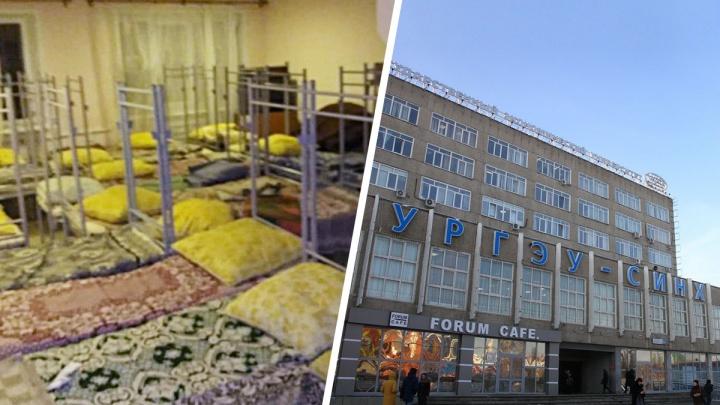 Иностранные студенты УрГЭУ взбунтовались и вынесли десятки кроватей в холл общежития
