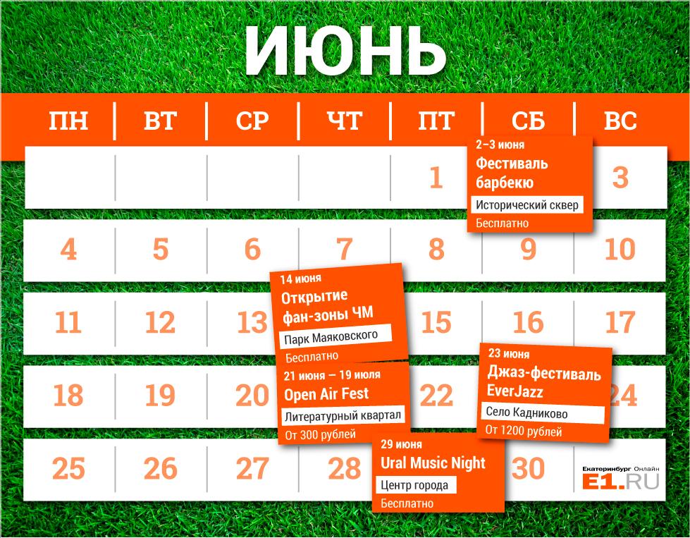 Джаз, рок, шашлыки и немного футбола: обзор летних фестивалей в Екатеринбурге и окрестностях