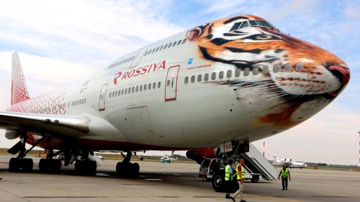 Двухпалубный самолет Boeing 747-400 «Тигролет» совершил вынужденную посадку в Ростове