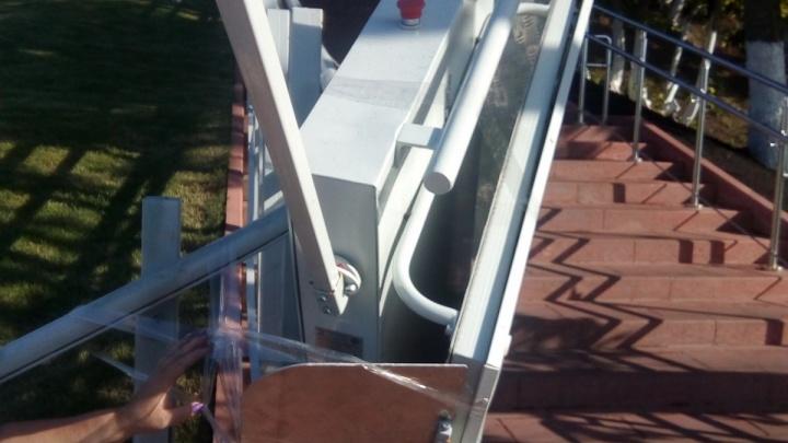 Электропандус для инвалидов с площади Славы сдали в ремонт