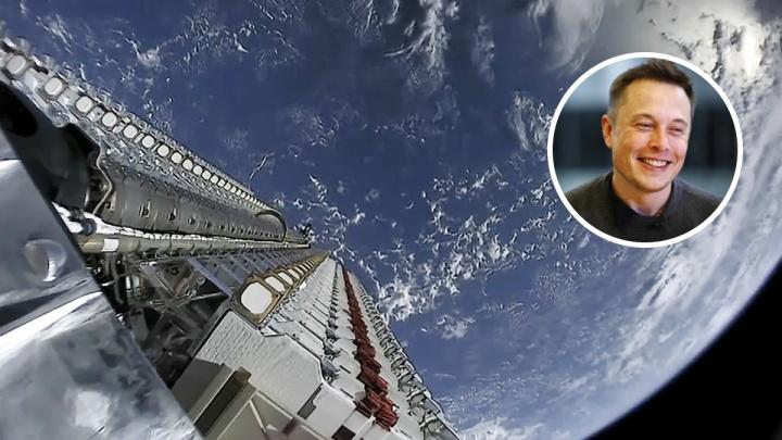 Ночью над Тюменью можно будет наблюдать вереницу спутников, запущенных Илоном Маском