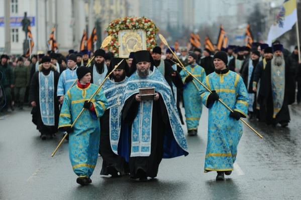 В 11:15 верующие пройдут крестным ходом по Екатеринбургу