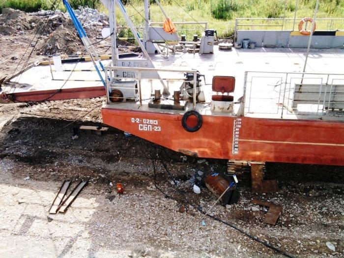 Паром не ходил с 7 августа из-за обследования и ремонта баржи