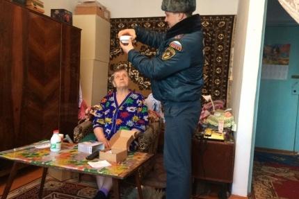 Дымовой датчик в квартире пенсионерки установили в декабре прошлого года