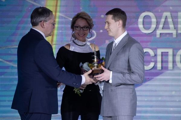 Награждение прошло в Москве. Дмитрий Шишкин победил в номинации «Одежда для спорта и отдыха»