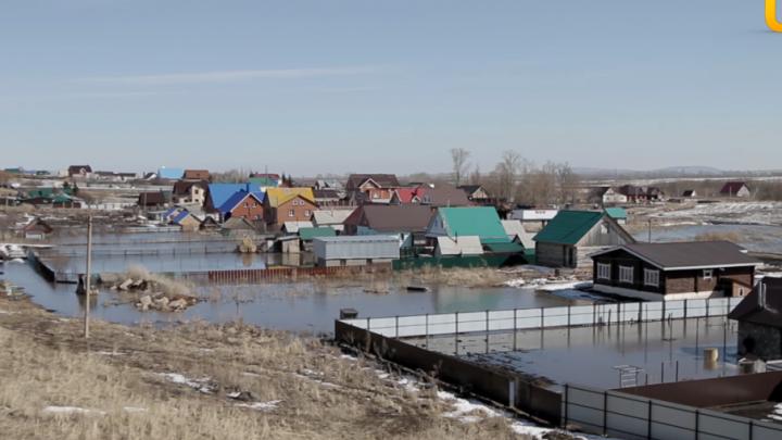 В Стерлитамакском районе под воду ушли несколько домов