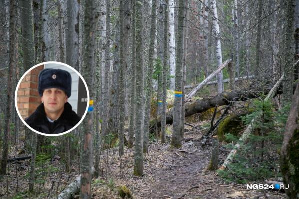 Полицейский нашел пропавшую женщину в лесу