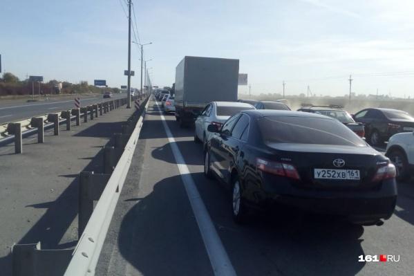 Скорость движения на Малиновского и Таганрогской — три километра в час