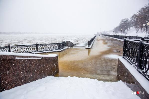 В Ярославле Волга вышла из берегов