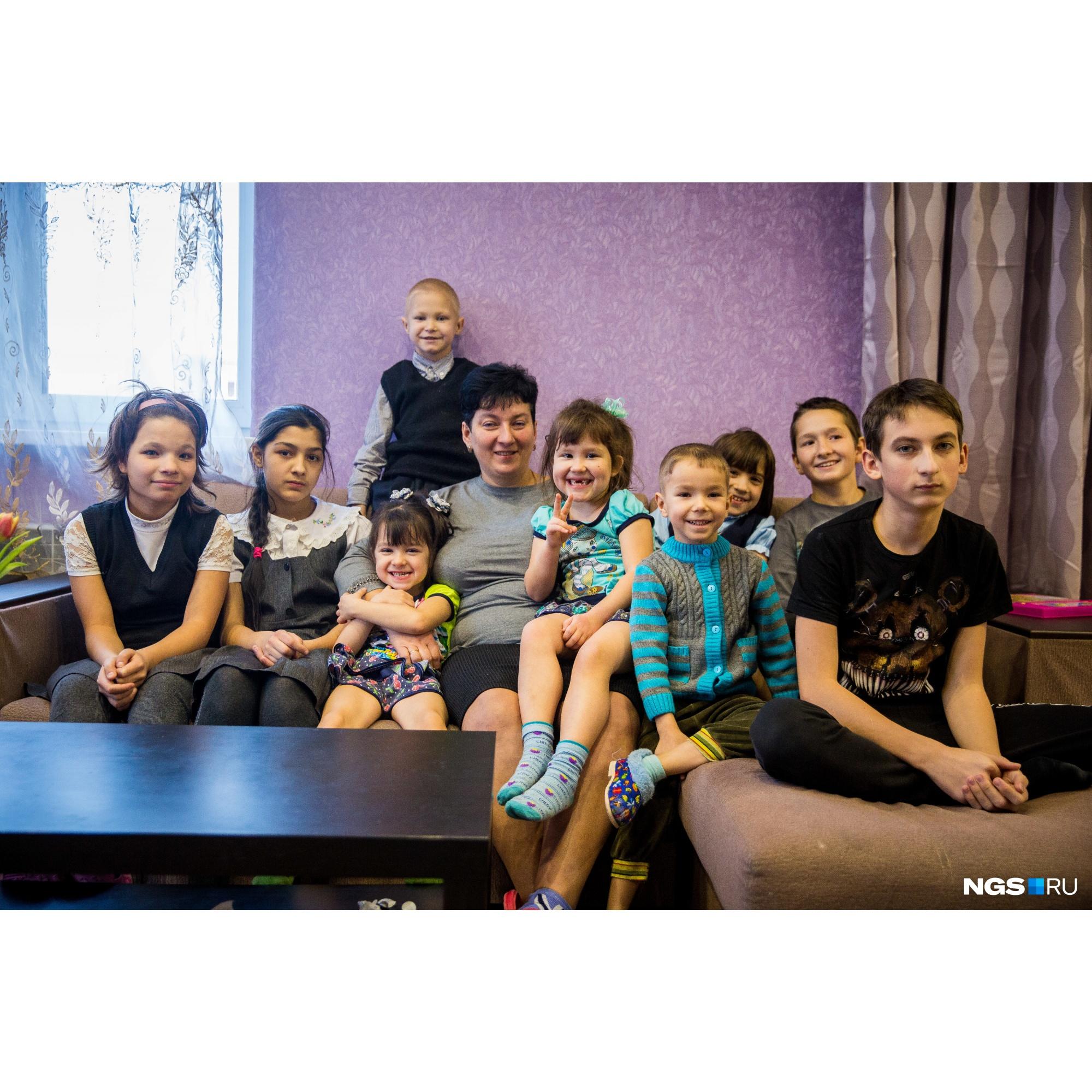 У семьи Куприяновых на воспитании девять детей