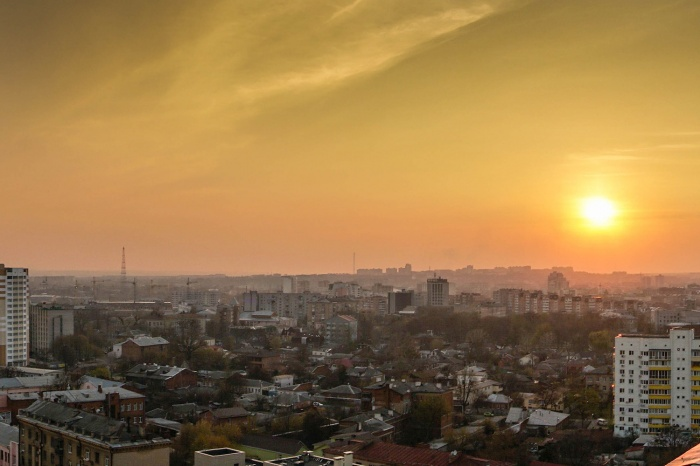 Закат над Харьковом