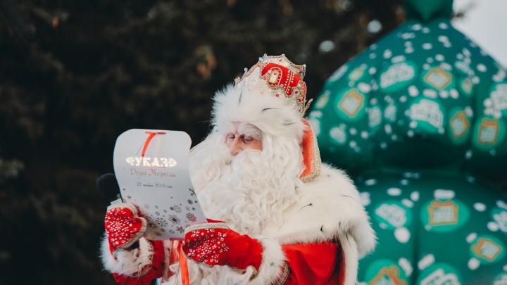 Как главный волшебник морозил тюменцев. Смотрим фото со встречи с Дедом Морозом (и ищем себя)