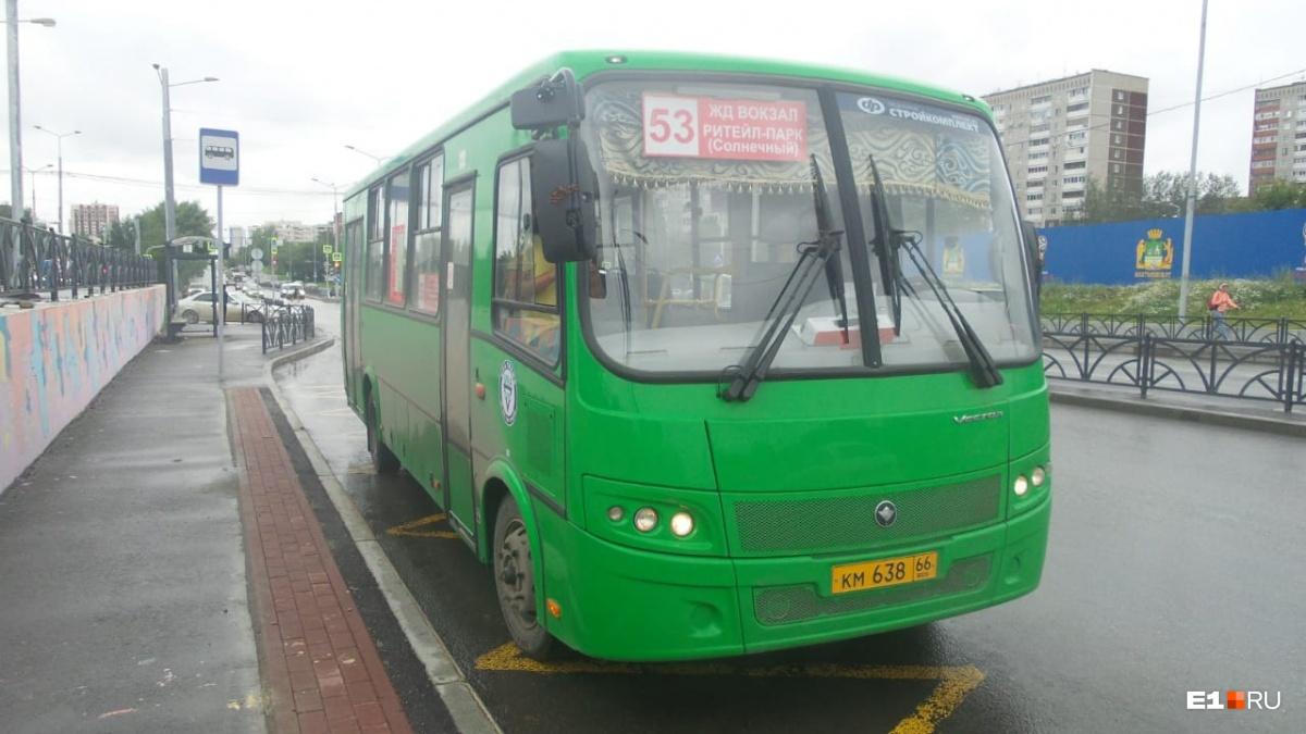 Середина августа 2018 года, первый автобус №53 готовится выйти в рейс