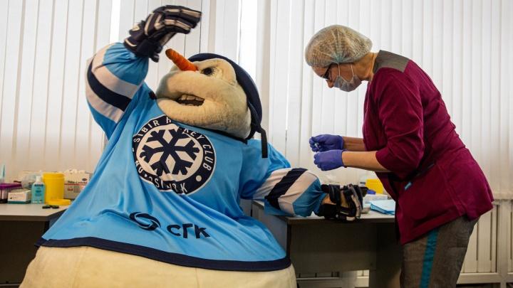 Игроки и болельщики ХК «Сибирь» вступили в регистр доноров костного мозга. Как это было — показываем в 8 кадрах