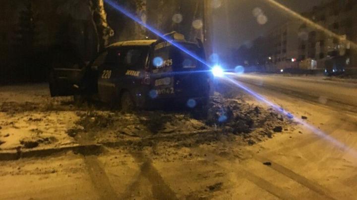 В Башкирии легковушка протаранила дерево