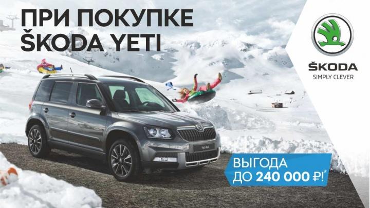 Skoda Yeti стала выгоднее на 240 000 рублей в «Медведь-Восток»