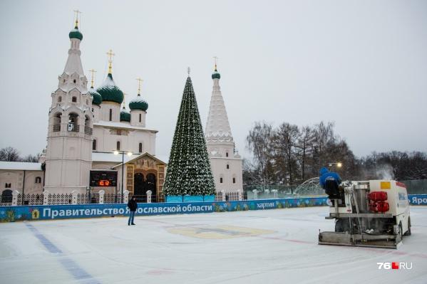 Каток на Советской площади откроют 15 декабря