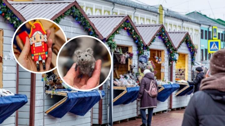 В центре Ярославля открыли ярмарку новогодних подарков: смотрим цены
