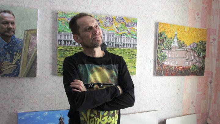 «Красные виноградники Любинского проспекта»: омич рисует картины с видами города в стиле Ван Гога